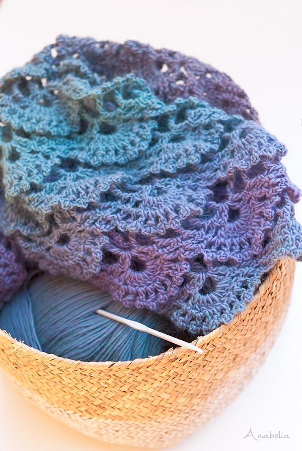 Crochet work in progress, Anabelia Craft Design