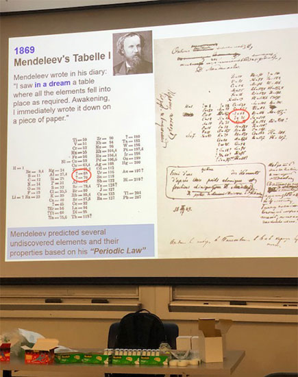 150 years after Mendeleev at UCI Physics Colloquium by Yoshiteru Meano, Kyoto U.