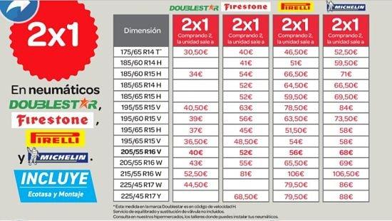 oferta-febrero-neumáticos-Carrefour