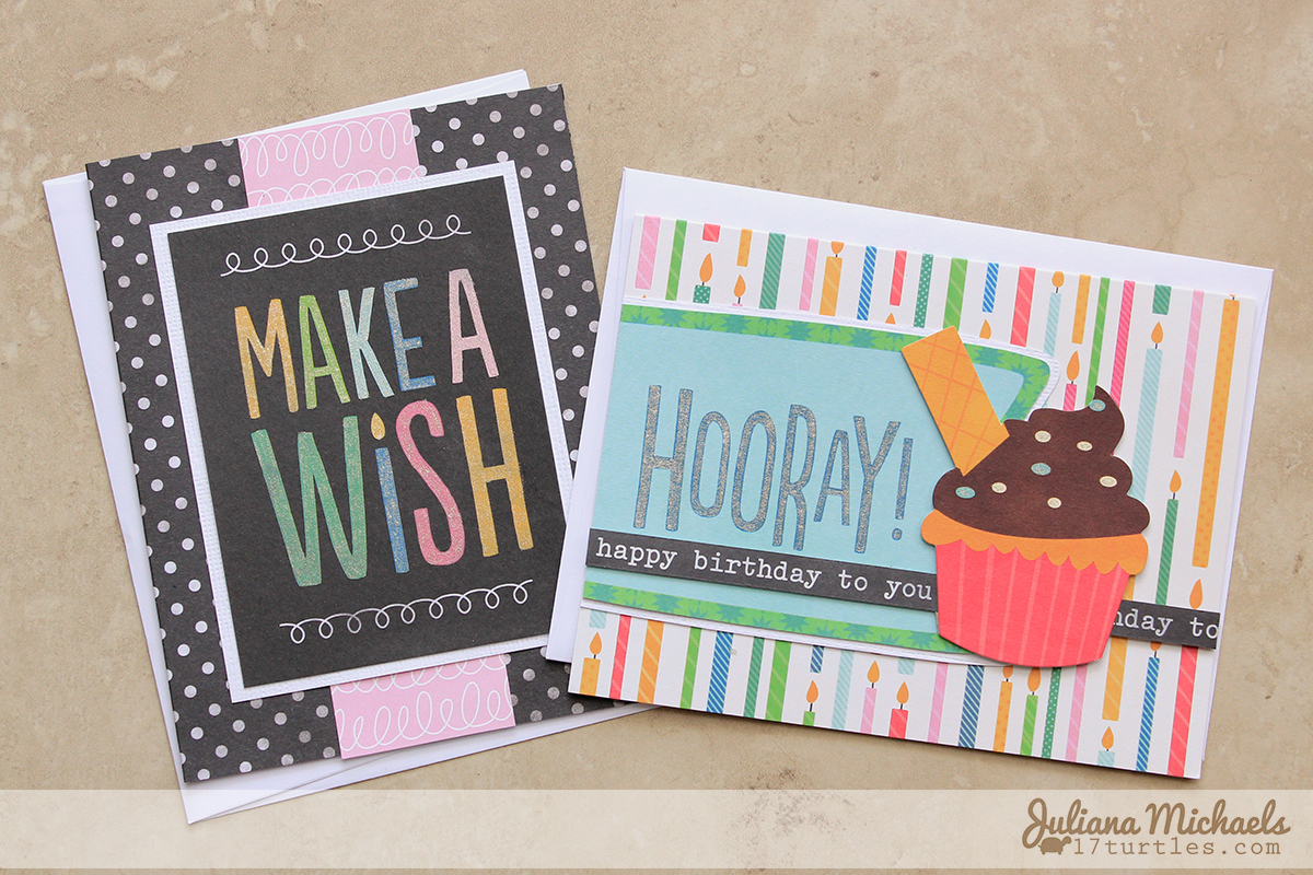 Quick and Easy Birthday Cards Pebbles Birthday Wishes Collection Juliana Michaels