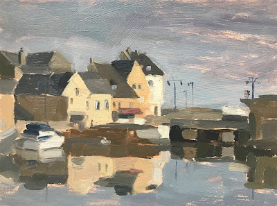 #194 Morning Light, Port en Bessin 18x24cm