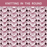 Eyelet Lace 46 -Knitting in the round