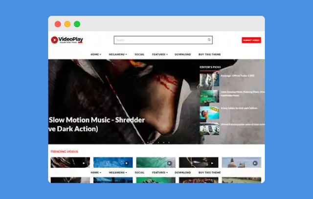 VideoPlay Blogger Template!