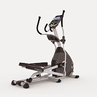 """Nautilus E616 Elliptical Trainer, with 25 ECB resistance levels, 29 programs, 0-11% motorized incline, 20"""" precision path stride length, large articulating cushioned footplates"""