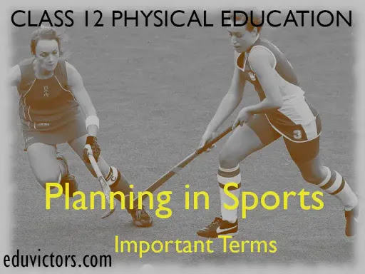 CBSE Class 12 - Physical Education - Chapter 1: Planning in Sports - Important Terms To Remember (#class12PhysicalEducation)(#eduvictors)(#cbsenotes)