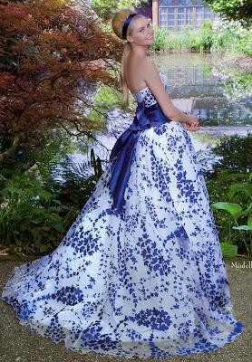 abito da sposa Emé di Emé 2014 Blu di Prussia