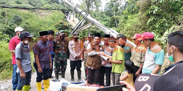 Dandim 0119 Bener Meriah Bersama Forkofimda Tunjau langsung Ke Lokasi Banjir Bandang