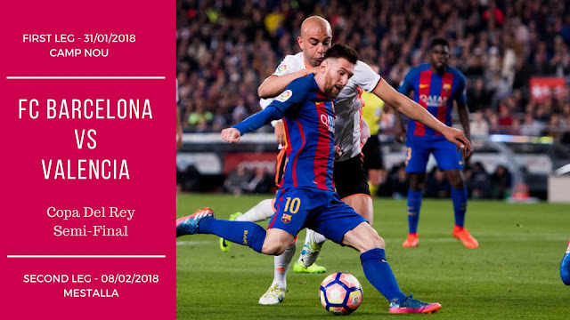 FC Barcelona will face Valencia in Copa Del Rey