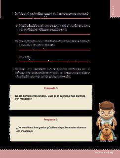 Respuestas Apoyo Primaria Desafíos matemáticos 3ro. Grado Bloque II Lección 28 Las mascotas de la escuela