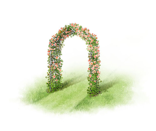 6 different styles of villa garden arch design
