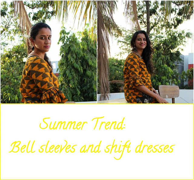Bell Sleeves and Shift Dress from Howrah Bridge. image