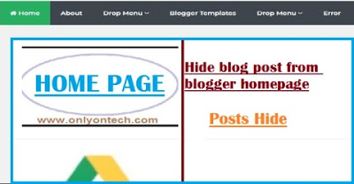 How to Hide blog posts on Blogger with Pictures