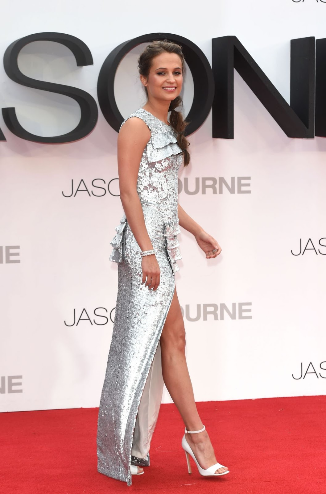 'The Light Between Oceans' actress HQ Alicia Vikander at Jason Bourne London Premiere