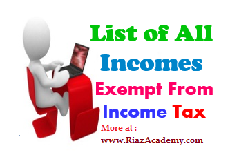INCOME TAX : List of All Amounts Completely Exempted under INCOME FROM SALARY