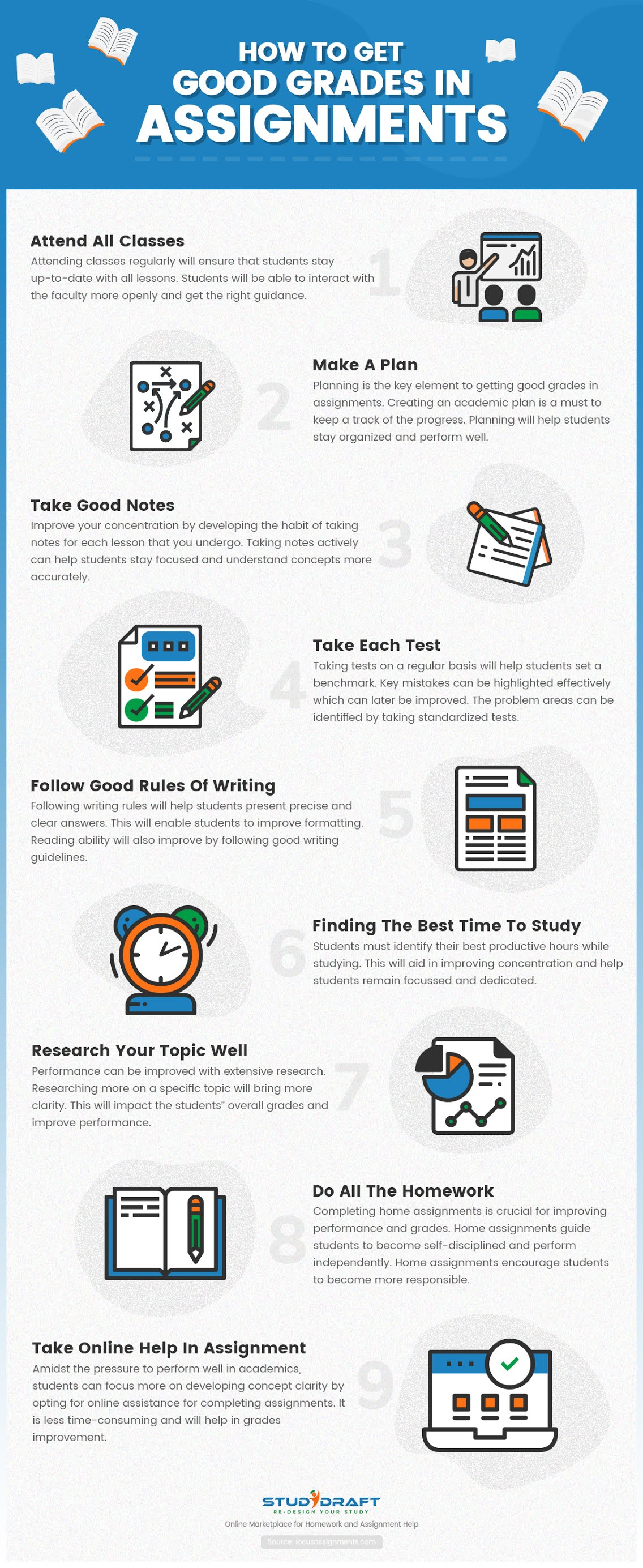 How To Get Good Grades In Assignments #infographic