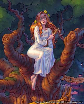 Русалка на дереве - Иллюстрация - Юрий (t_rAt) Волкович