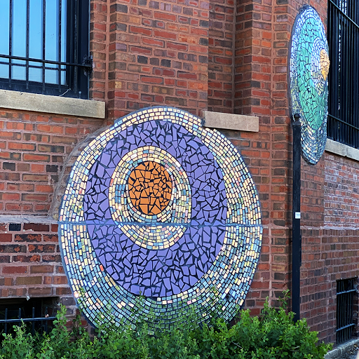Mosaic wall mural art