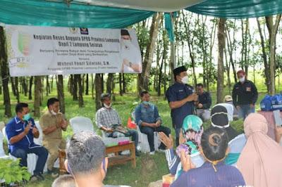 Napak Tilas Perjuangan, Wahrul Fauzi Silalahi Reses di Kebun Karet