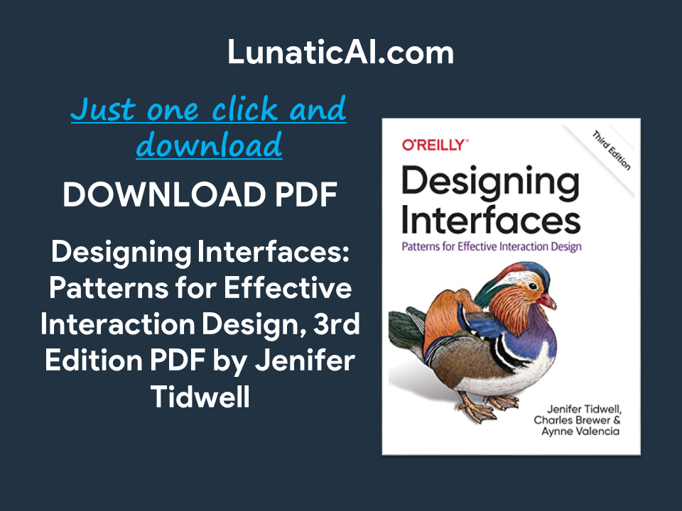 Designing Interfaces 3rd Edition PDF Download