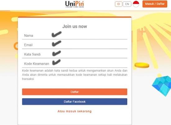Cara Daftar UniPin Dengan Mudah Untuk Top Up Game Online