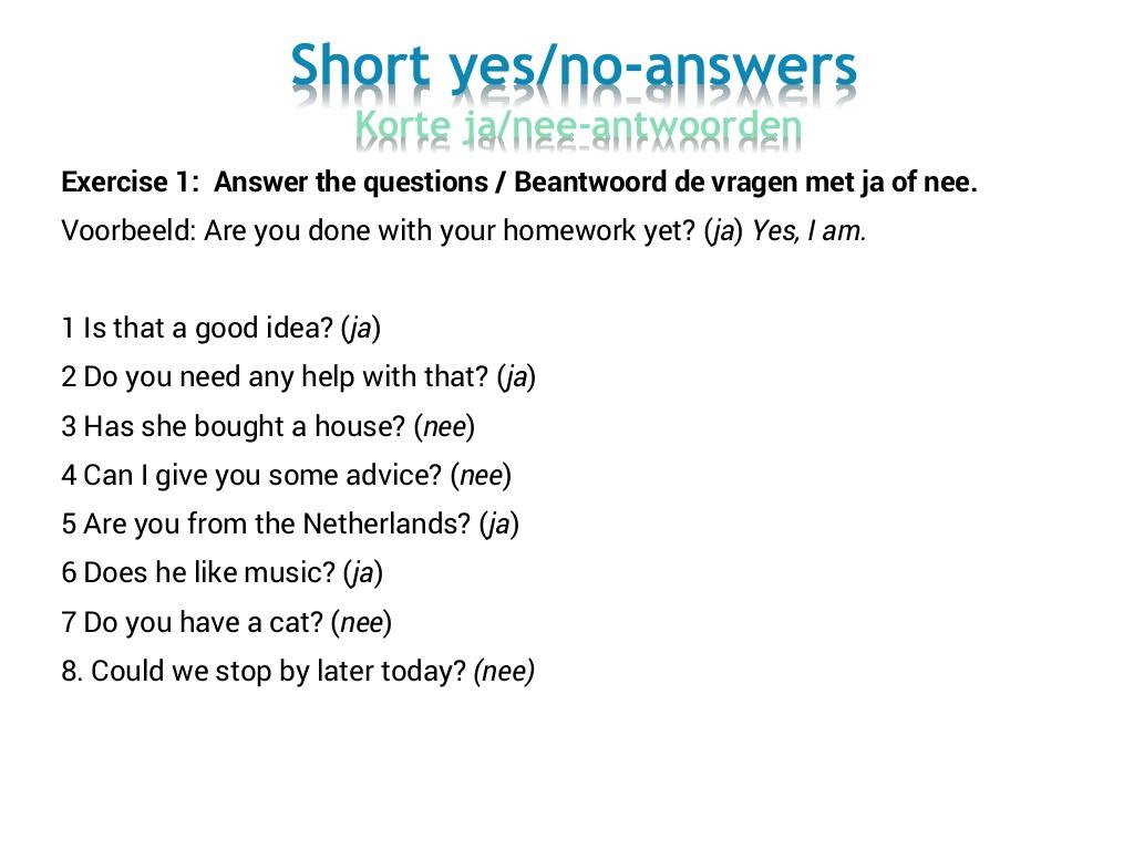 Citaverde Talenplein leerjaar 3 KB, GL, T: Short answers