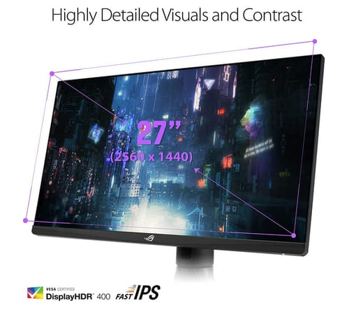 ASUS XG27AQM ROG Strix 2K HDR Gaming Monitor