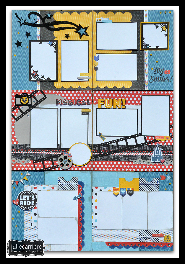 Disney Scrapbooking layouts