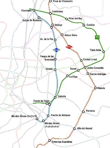 Metro Ligero Madrid M30 M35