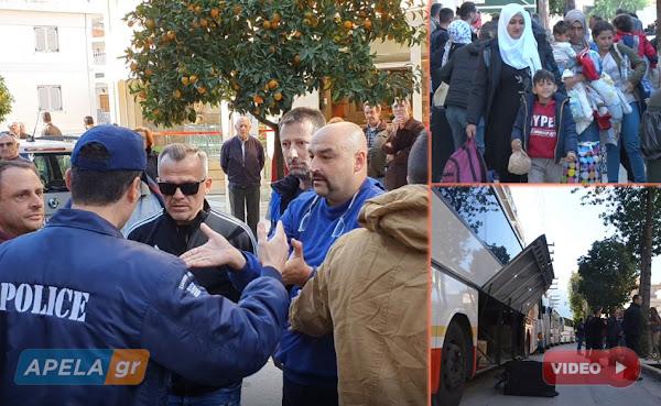 Έντονες αντιδράσεις προκάλεσε η άφιξη των μεταναστών από πολίτες της Σπάρτης (vid)