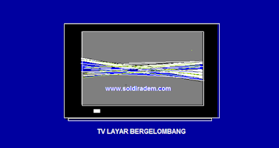 Cara mengatasi TV SAHARP Layar Menciut Bergelombang