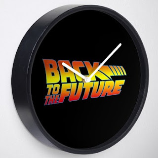 Back To The Future Logo Clock