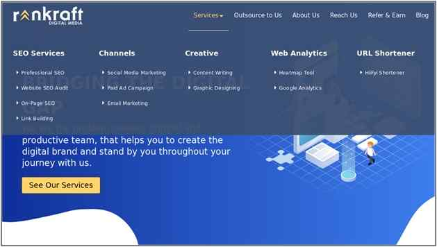Rankraft digital marketing agency services
