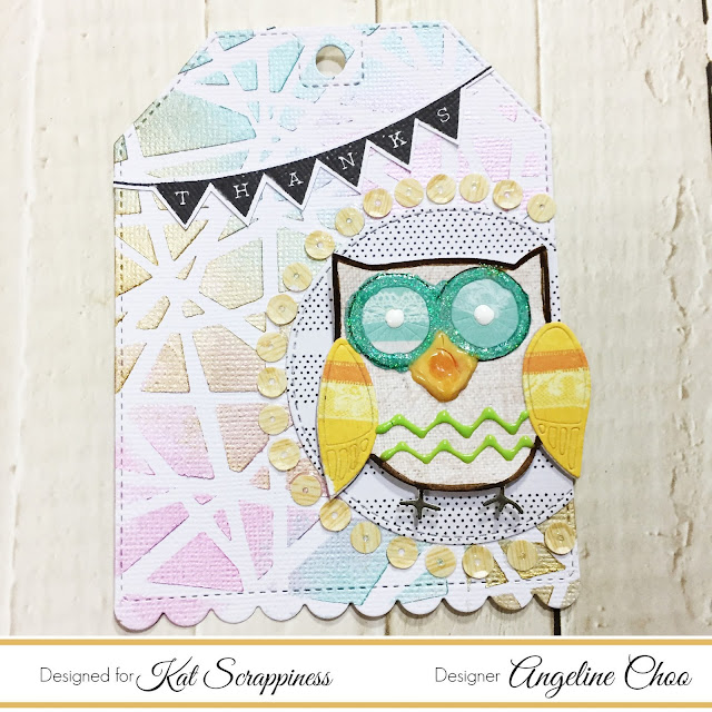 ScrappyScrappy: [NEW VIDEO] Owl Nuvo Mousse Tag with Kat Scrappiness #scrappyscrappy #katscrappiness #heroarts #tonicstudios #dylusions #stamp #stamping #card #cardmaking #tagmaking #owl #nuvodrop #nuvojeweldrop #nuvoglitter #stencil #nuvomousse #diecut #katscrappinessdie #katscrappinesssequin #quicktipvideo #youtube
