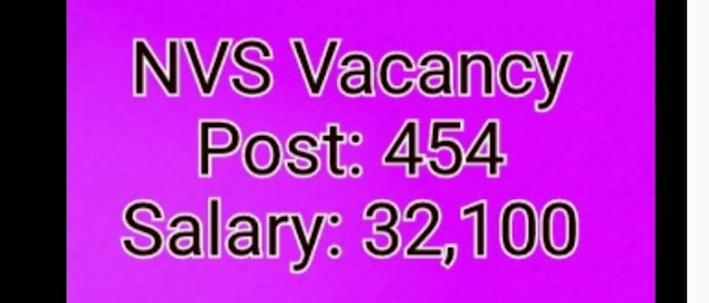 nvs recruitment 2020: Vacancy Out Now Total 454 Posts Apply Online; Last Apply Date 9 Sep