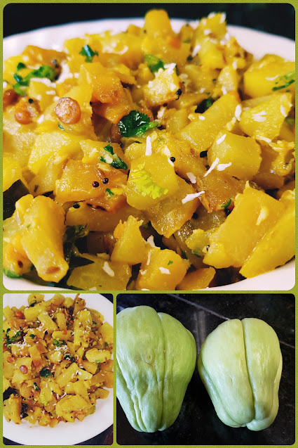 Instant Pot Chow Chow Dry Curry | Chayote Recipe
