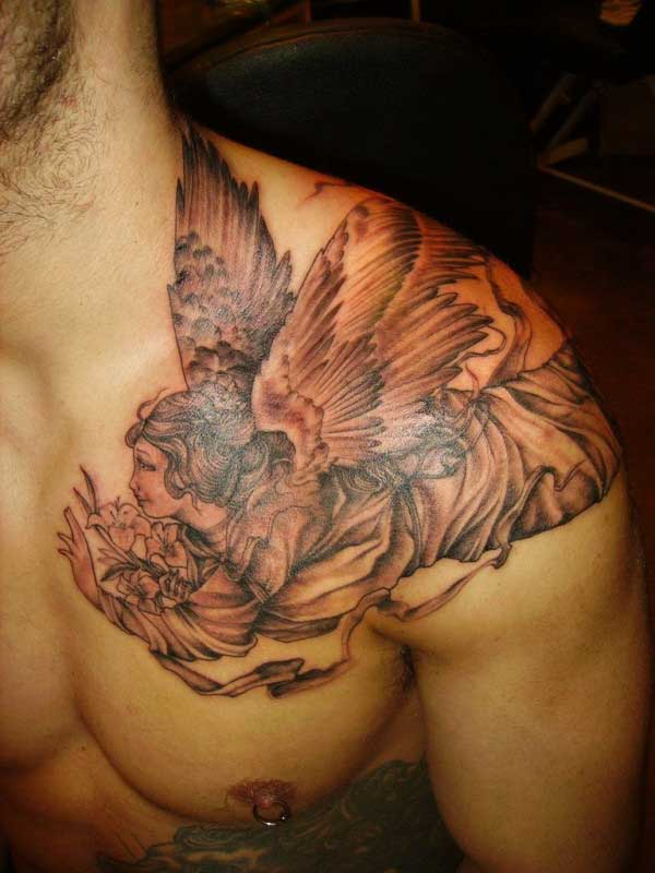 erkek melek dövme modelleri