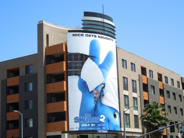 Smurfs 2 movie billboard