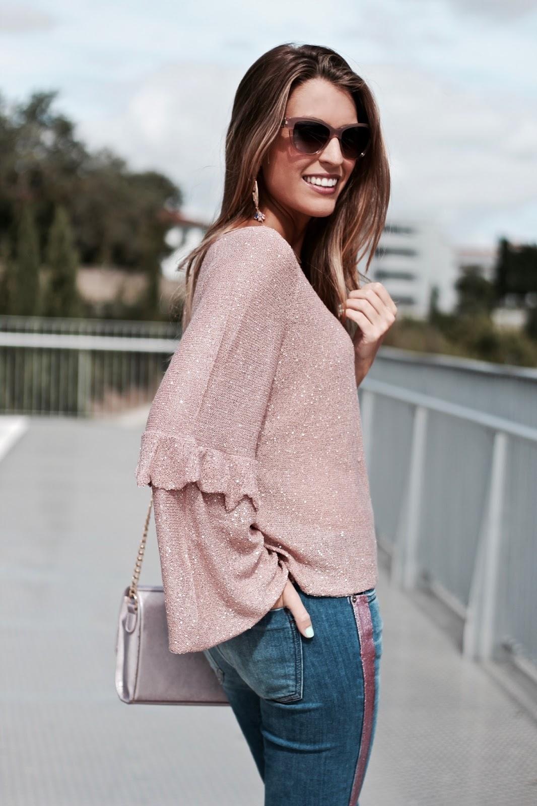 jersey rosa lentejuelas