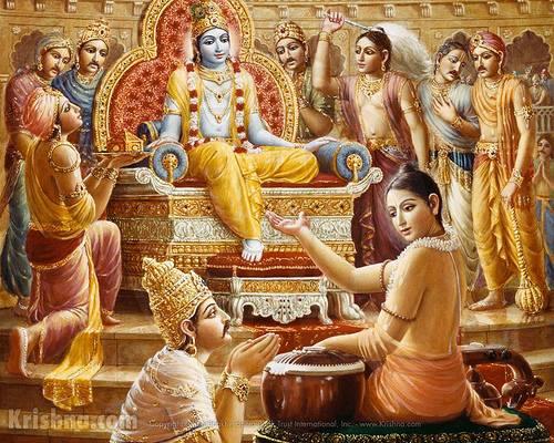 Narada recites Krishna's glory