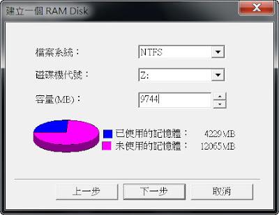 把多餘的記憶體拿來當作超快的磁碟區,Gilisoft RAM Disk V6.5.0 繁體中文版!