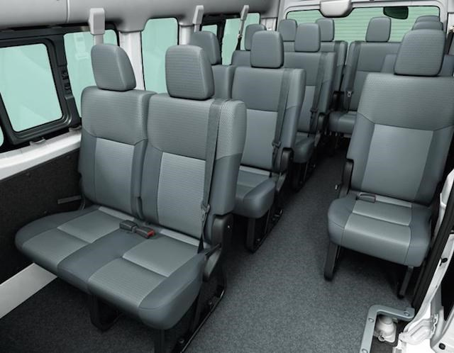 ghế ngồi nissan nv350