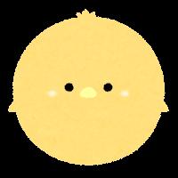 パステルカラーの鳥のイラスト(黄色)