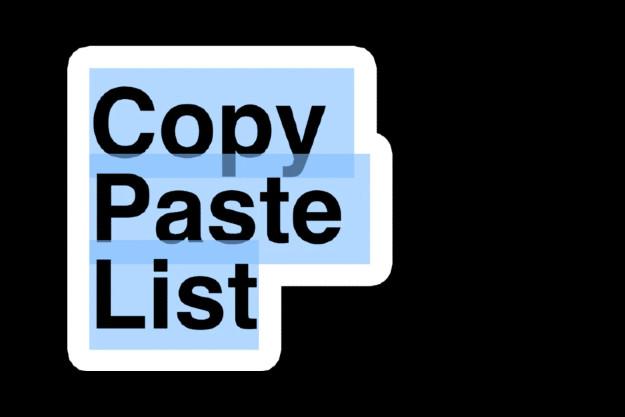 έτοιμη λίστα για αντιγραφή