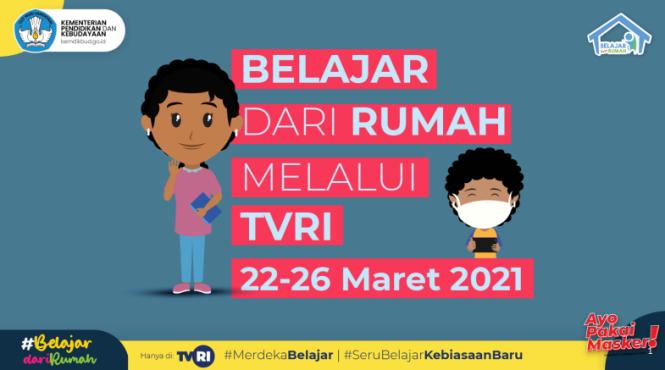 Panduan Pembelajaran Program BDR di TVRI Minggu Kedua Belas Tahun 2021