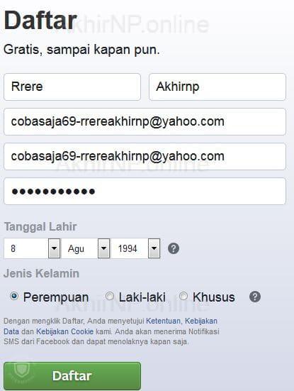membuat banyak akun facebook dengan satu email