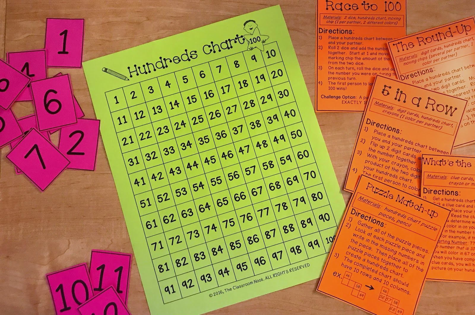 learn 5 games you can play with a hundreds chart