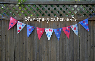 Easy 4th of July decoration: star spangled bunting!