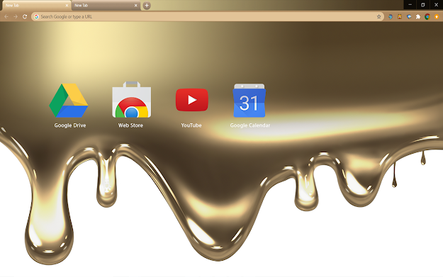 Liquid Gold Chrome Theme