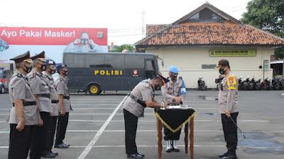 Sertijab Kasat Binmas dan Kasat Polair Polresta Bandar Lampung