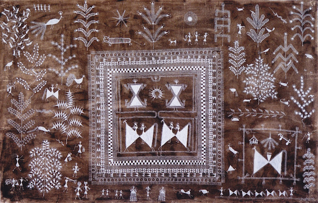 Jivya Soma Mashe  art warli Exposition Fondation Lambert collection Agnès B.